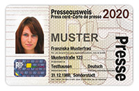 Muster Presseausweis